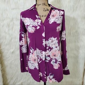 Candie's floral button down blouse